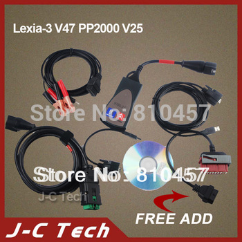 2014 Top Rated Professional for multi language PP2000 ( V25) Lexia 3 lexia-3 V47 (Full Set ) lexia3 with 30 pin cable dhl free