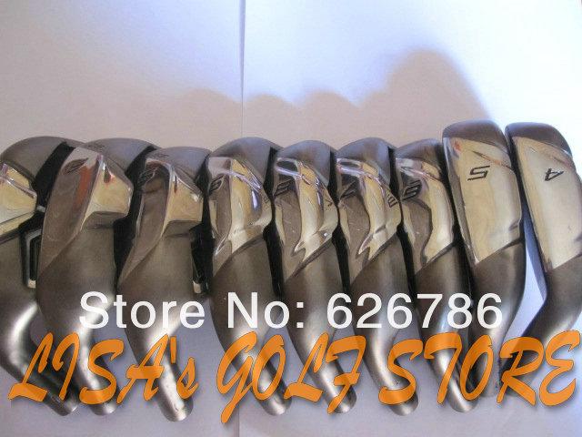 Left Hand Golf Clubs irons Set 4-P.A.S(9pc)Regular/Stiff Flex Steel shaft,Free Shipping(China (Mainland))
