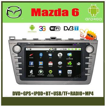 8 inch Car DVD with Android ,WIFI,3G,for 2008-2013 Mazda 6/Mazda6 Ultra,CANBUS+GPS+BT+FM+IPOD Free shipping