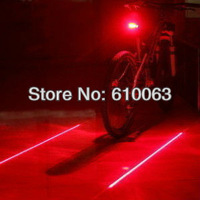 Bicycle Cycling Laser Tail Light  (2 Laser + 5 LED) Bike safety light  Seatpost LED light free shipping