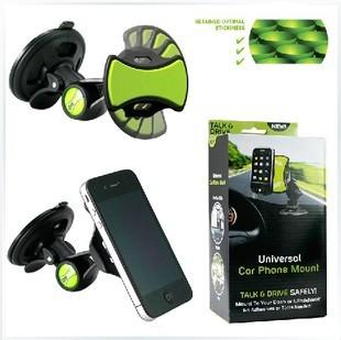 GripGo grip go Windshield Universal Car mobile phone GPS Mount holder 360 Degree rotating 5pcs/lot