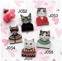 Mix order-min order is $ 20 acrylic badge popular hot sale brooch cute cat free shipping J052 J053 J054 J055 J056
