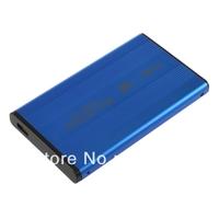 Blue USB SATA Hard Disk Drive Case Enclosure New