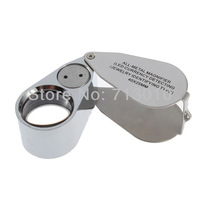 Hot selling New Mini 40X25mm Led Light Magnifying Glass Magnifier With Jewellery