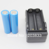 New 2 x 18650 4400mah 3.7V Torch Rechargeable Battery + AA Battery Charger