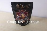 stand up herbal incense ziplock plastic bag/AK47 series herbal incense bag