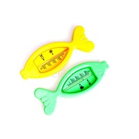 #C Floating Fish Lovely Plastic Float Toy Baby Bath Tub Water Sensor Thermometer