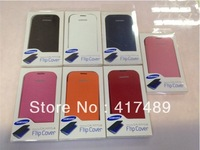 For Galaxy S3 Flip Leather case ,Flip backup battery cover case for Samsung Galaxy S3 i9300 Wholesale Free DHL 100pcs/lot