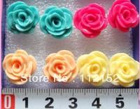 Fashion Stud Earrings mix six color Free Shipping