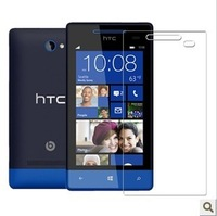 50pcs/lot free shipping for HTC 8s high clear screen protector with retail package