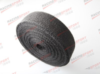 Black 2''x2mm universal glass fibre exhaust heat wrap