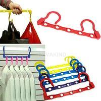 #Cu3 Portable Space Saver Wonder 5-Hole Magic Hanger Hook Closet Organizer