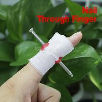 Manmade Nail Through Finger April Fool Trick Toy K5BO
