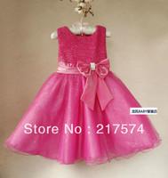 2013 NEW Arrival Children Kids Princess Dresses Girls Summer Wear Bling Fashion Design