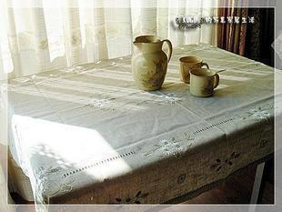 Linen hand embroidered table cloth fabric tablecloth table cloth towel cover dlh81047 heather grey(China (Mainland))