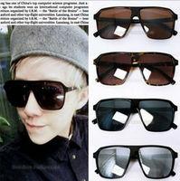 men and women general skeleton curved hipster glasses sunglasses big black frame sunglasses for adult fashion