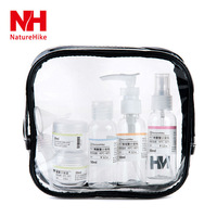 PET Plastic Transparent Waterproof Cosmetic Packing Bottles Lotion Liquid Bottle Personal Care Zipper Bag For Business Travel