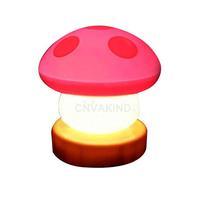 #Cu3 LED Mushroom Press Down Touch Lamp Night Light Pink C