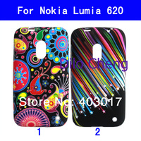 Colorful Jellyfish Starfish flower Soft tpu SKIN CASE COVER For NOKIA LUMIA 620 MOQ 1PC
