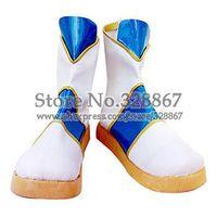 Cosplay Boots Inspired by A.R.I.A Aquamarine Akari Mizunashi White Blue