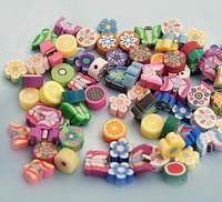 10-12mm , flat round , fimo beads, mix colors, random colors ,200pcs per bag
