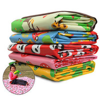 free shipping nado outdoor cartoon graphic patterns outdoor picnic rug child blanket baby mats multicolors