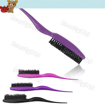 3pcs/Lot Professional Teasing / Back Combing Hair Brush, Slim Line Styling 3Colors Wholesale&Retail 10189