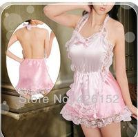 Cute Sexy lingerie pink lace sweetheart nurse