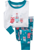 baby cotton long sleeve owl design pyjamas kids clothing set children sleepwear 6sets/lot free shipping