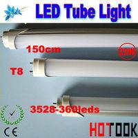 CE RoHS T8 3528 LED Tube Light 22W 2100lm 1500mm 150CM G13 3528smd 360leds Lights Lamp 85V~265V x 20PCS -- ship via express