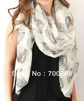 20pcs/lot Ladies Vintage Camera Retro Scarf Wrap Shawl 180*110cm , Free Shipping