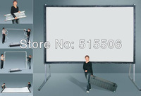 "Hot Sale !! Rear Projection fast fold screen 4:3 180""inch for outdoor projection,with aluminum flight case,free shipping !!"