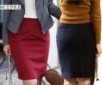 Ladies Summer Elegant  Formal A Line High Waist Suit Pencil Skirt  OL Career Office Work Wear Slim hips Pencil Skirts Size S-XXL