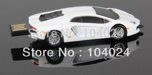4gb 8gb 16gb 32gb white racing sports car shape USB 2.0 flash drive memory pen disk Drop ship dropshipping(China (Mainland))