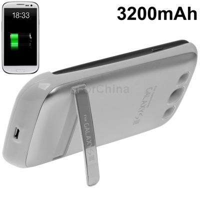 3200 мАч портативный банк внешний аккумулятор с держатель для Samsung Galaxy S3 i9300 ( белый )