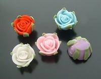 FIM1021, 15mm Fimo flower ,flat back, 50pcs per bag, mix colors , random color