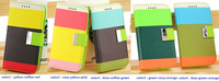 1pc Three Mix Color Fashion PU LeatherFlip Case Cover For Samsung Galaxy S4 IV i9500