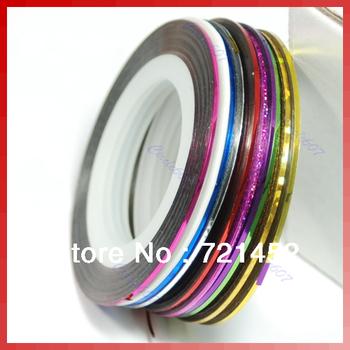 Free Shipping 50pcs/lot Striping Tape Line Nail Art Decoration Sticker