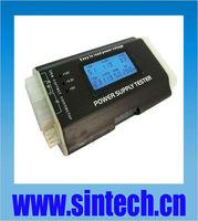 PC 20/24-pin SATA ITX/ATX/BTX Power Supply Tester with LCD Screen,aluminium case