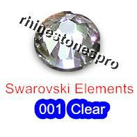 ss20 GENUINE Swarovski Elements Crystal Clear ( 001 ) 144pcs ( NO hotfix Rhinestones ) 2058 Gems 20ss FLATBACK Art facet Crystal(Hong Kong)