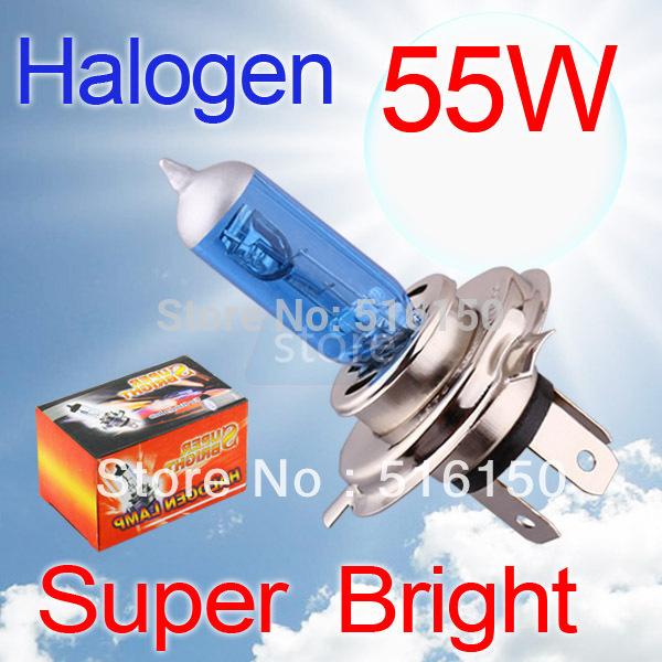 2pcs H4 Super Bright White Fog Halogen Bulb 55W Car Head Light Lamp(China (Mainland))
