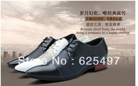 Free shipping mens leather oxfords office business casual classical dress shoes,men's black blue shoes,promotion
