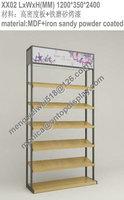 metal wall woman's shoes display rack/shoe store display racks/shoes display shelf/shoe display stand