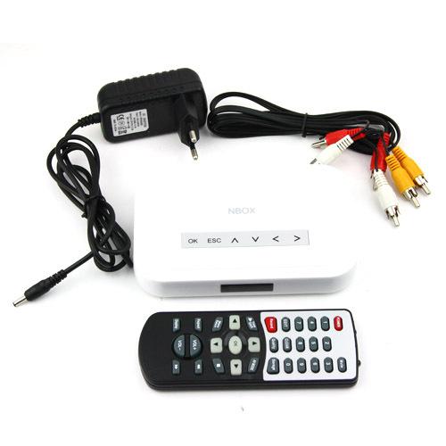 NBOX Flash HDD USB SD Card Media Player RMVB MP3 AVI MPEG Divx,free shipping by HK post(China (Mainland))