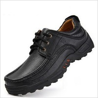 2013 Casual Men Genuine Leather Shoes,Men's Top quality Sneakers,authentic brand mans flat shoe plus Size 45,46,47