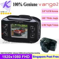 100% Original Vango2 Car Black Box DVR Recorder Portable Digital Camera 1920*1080P Full HD Advanced IR Night Vision G-Sensor