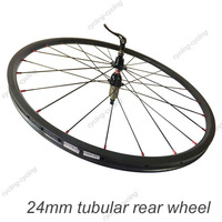 24mm tubular bike rear wheel 700c Carbon fiber road Racing bicycle wheel,single wheel
