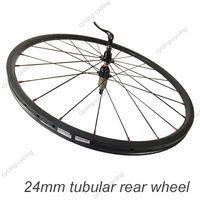 FREE SHIPPING 24mm tubular bike rear wheel 700c Carbon fiber road Racing bicycle wheel,single wheel