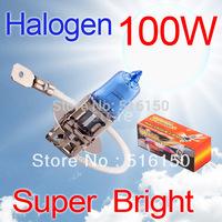 2pcs H3 Super Bright White Fog Halogen Bulb 100W Car Head Lamp Light V10 12V