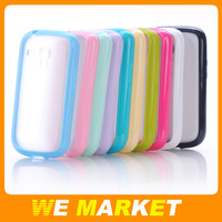 Sales promotion 10pcs Cheap mobile phone case for samsung galaxy S3 mini i8190 Matte PC + TPU material Free shipping